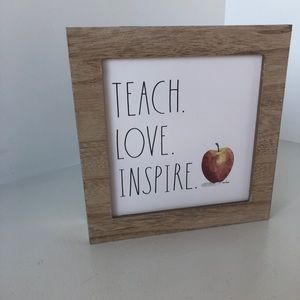 Rae Dunn Teacher Sign